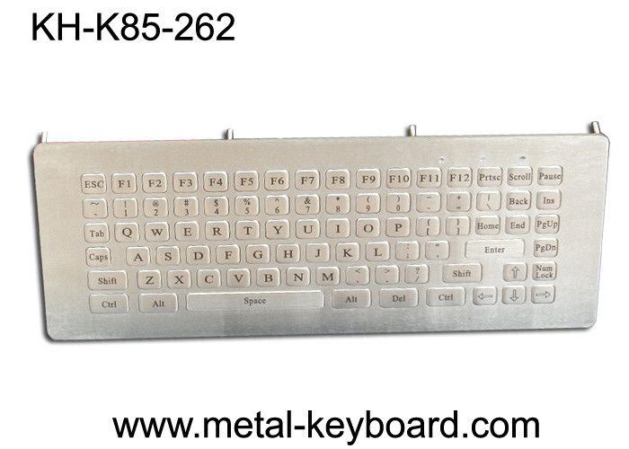 85 Keys Ruggedized Keyboard , Industrial Computer Metal Kiosk Keyboard