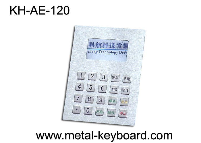Panel Mount Stainless steel Keyboard , Fuel Dispenser Metal Keypad
