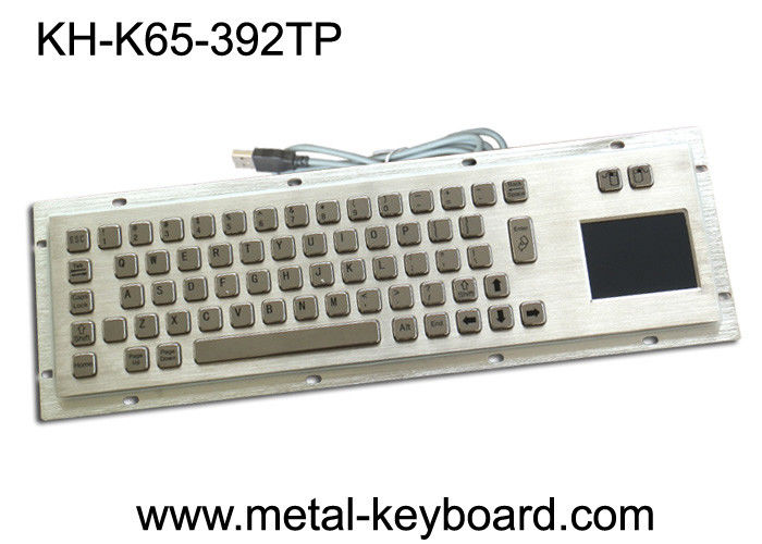 Dustproof Industrial Computer Keyboard Metal with touchpad and mouse keys
