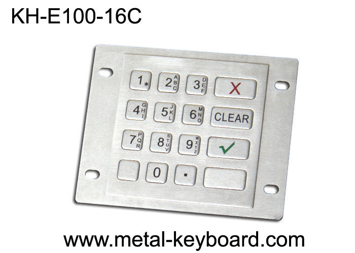 Industrial Explosion Proof 16 Keys weatherproof keypad USB or PS2 interface