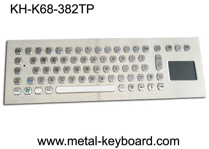 Rugged Vandal Proof Touchpad Keyboard Industrial With USB Port And 70 Keys