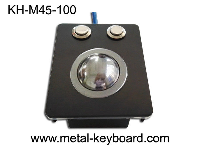 Rugged Industrial Pointing Device Panel Mount 38mm Metal Trackball No Noise